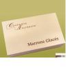 Marronnières bois 18 marrons glacés pliés OR PROMOTION