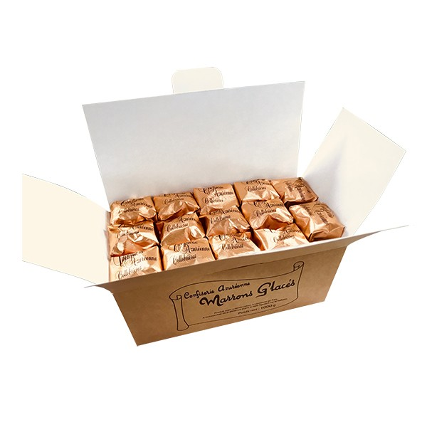 Ballotin marrons glacés pliés OR 1 kg PROMOTION