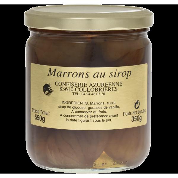 Marrons au sirop Nature 350g